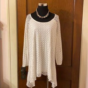 Cato White Lace Tunic EUC Size 18/20